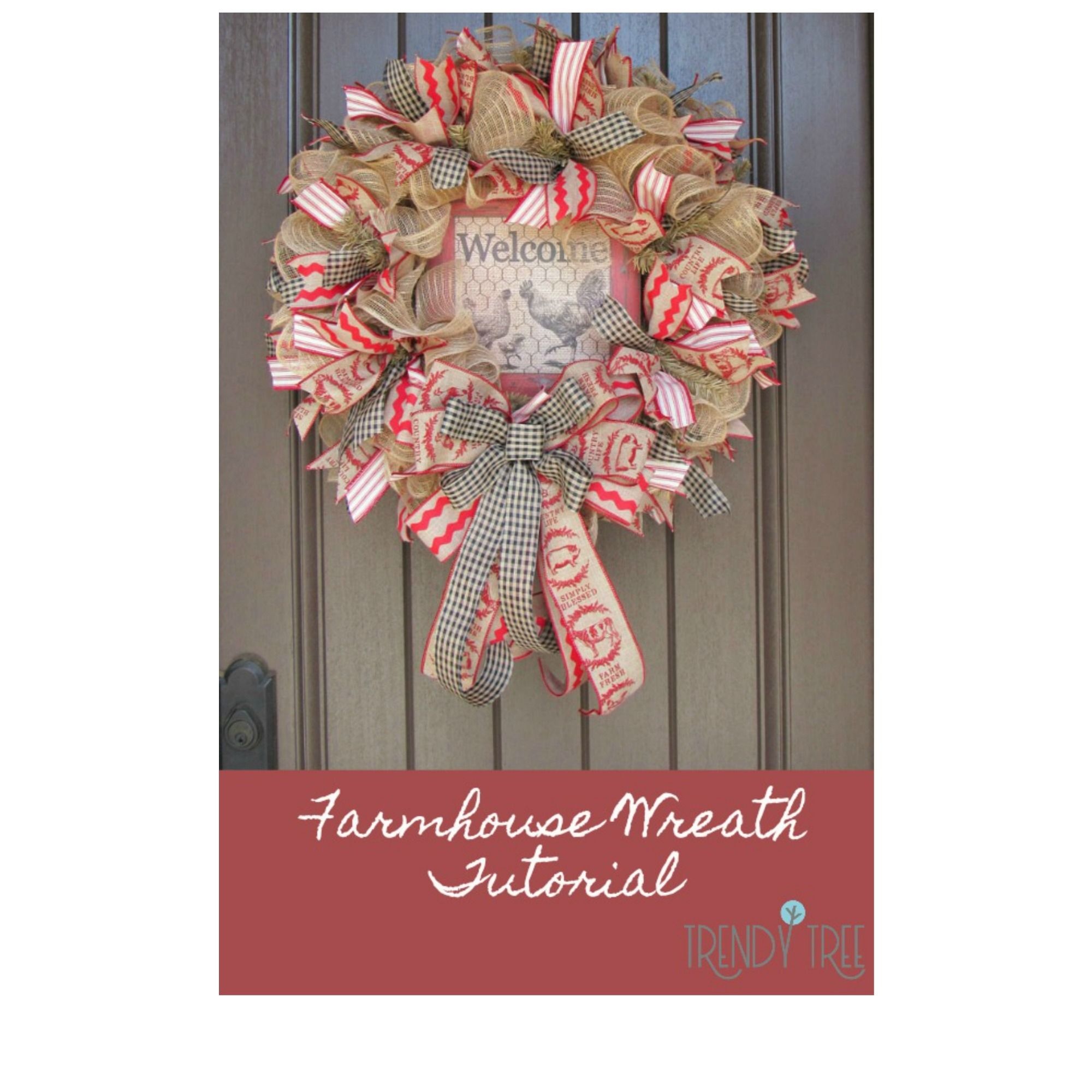 Photo of Farmhouse Wreath Tutorial – Trendy Tree Blog Holiday Decor Inspiration | Wreath tutorials | Christmas decorations | Mesh & ribbons