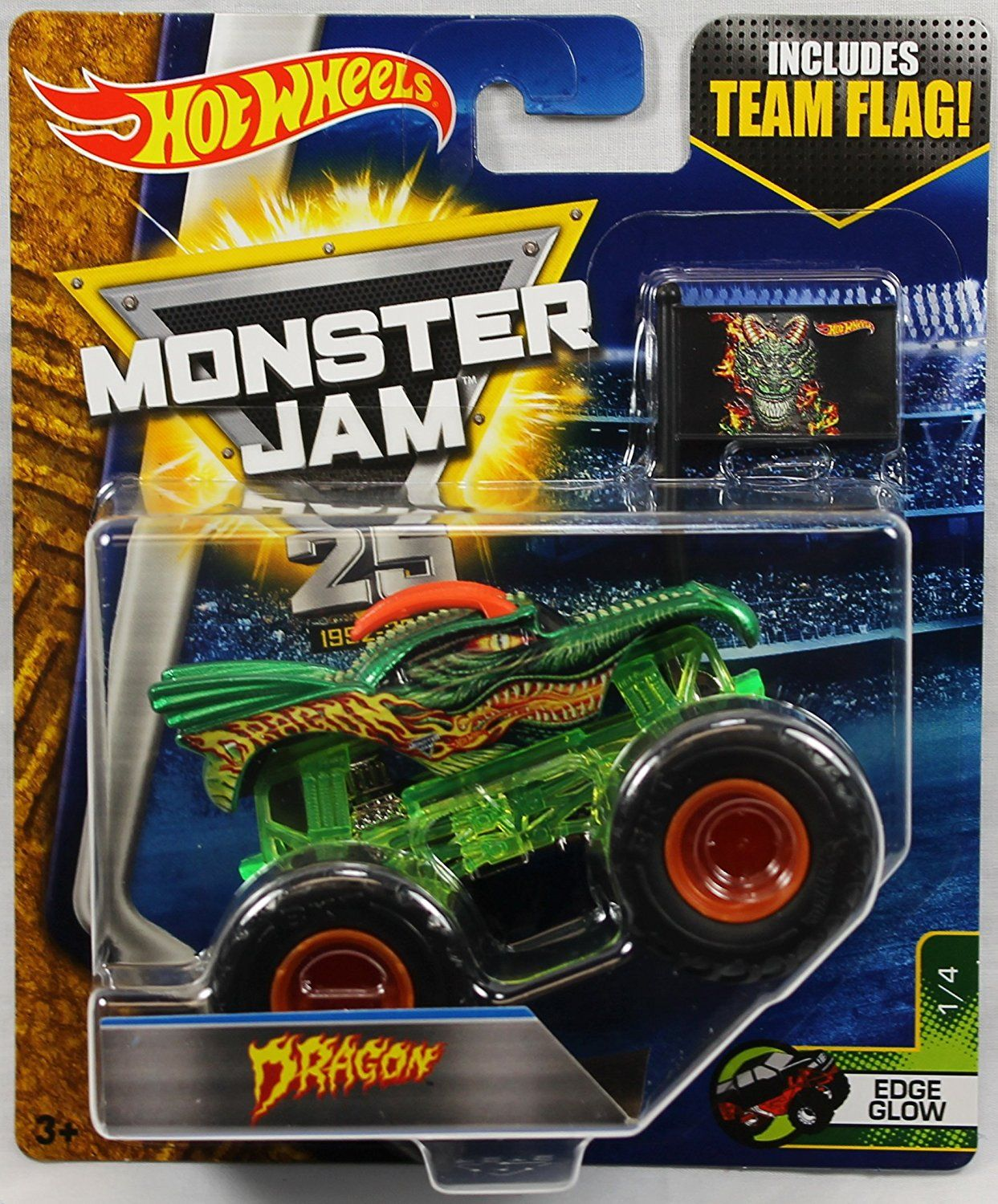 Amazon Com Hot Wheels Monster Jam 1 64 Scale Truck With Team Flag Dragon Toys Amp Games Hot Wheels Monster Jam Monster Jam Hot Wheels