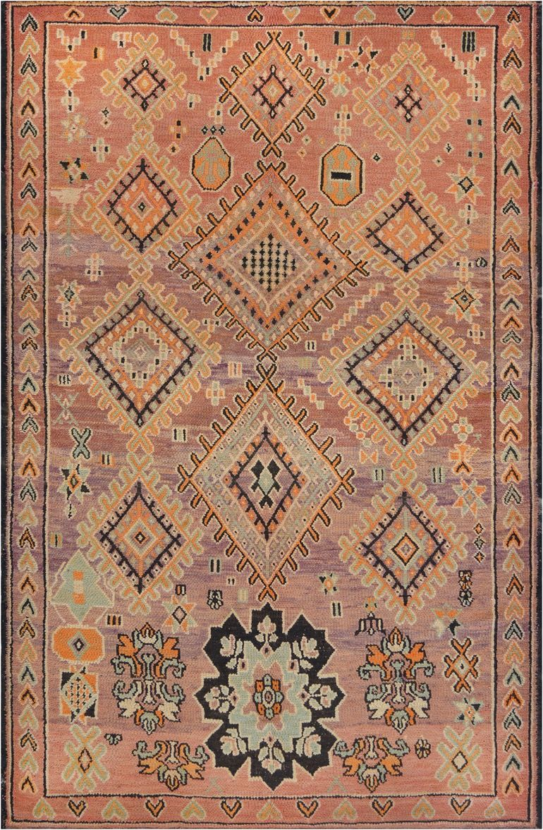 Vintage Moroccan Rug Art Deco Moroccan Traditional Wool Antique Vintage By Mansour Vintage Moroccan Vintage Moroccan Rugs Vintage