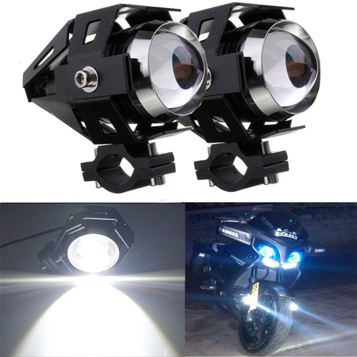 Motorcycle Spotlight Cold Blue Pair LED Headlight   Running Light Driving  X
