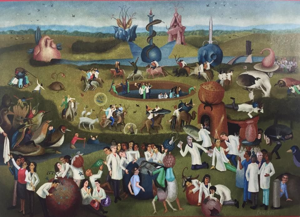 Parody of Hieronymus Bosch, The Garden of Earthly Delights