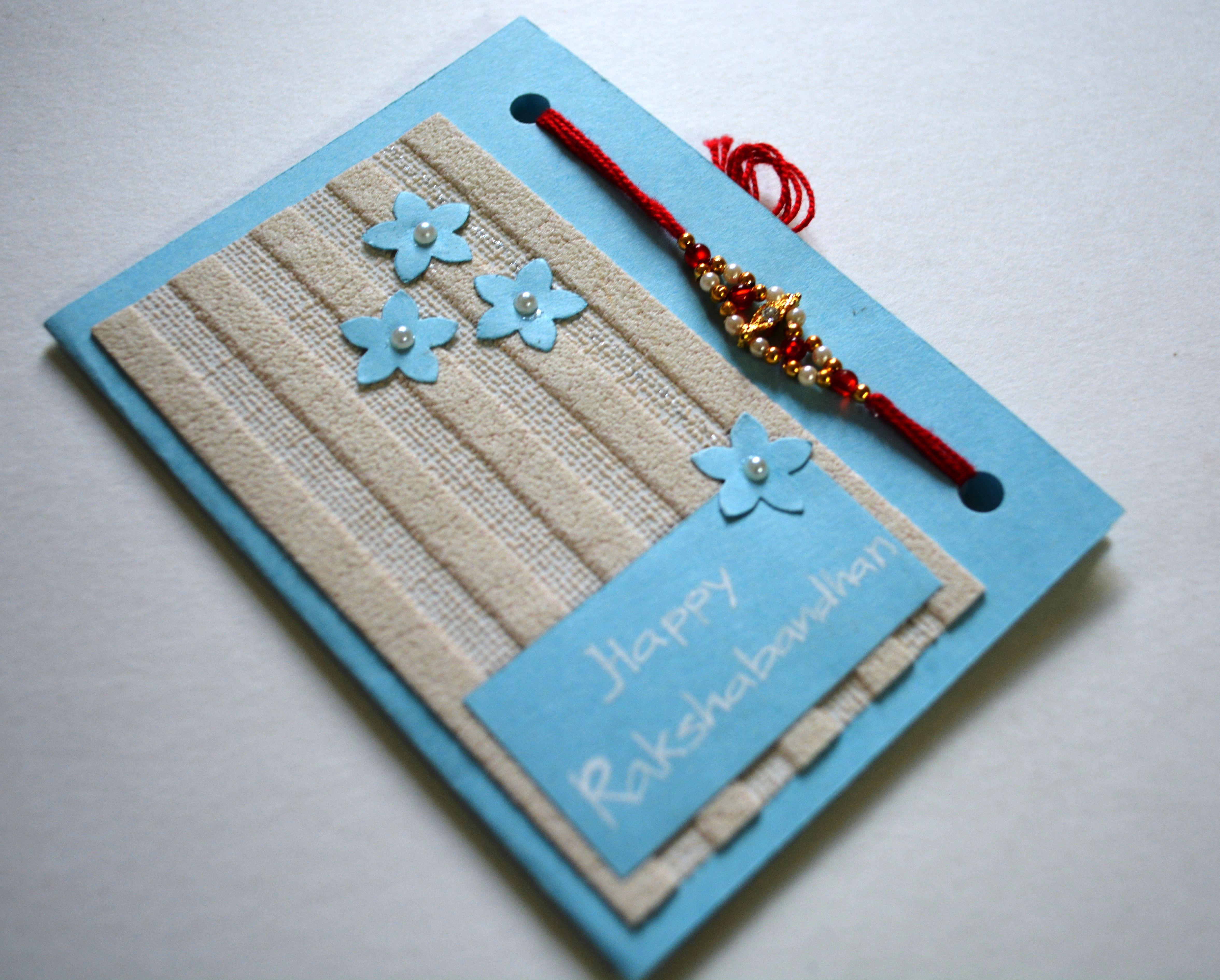 Good Card Making Ideas For Raksha Bandhan Part - 12: Rakshabandhan Cards With Rakhi :)