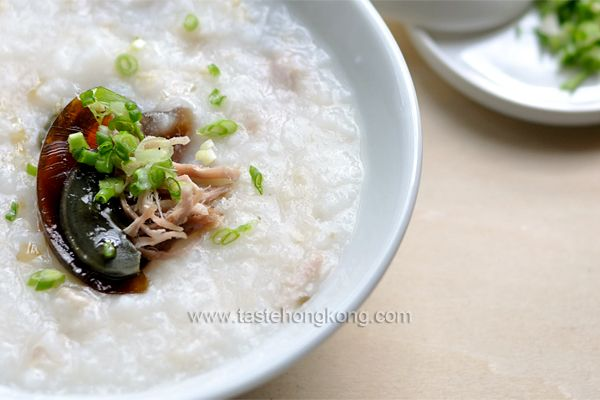 How to Cook Congee with Salted Pork & Century Egg, a ...