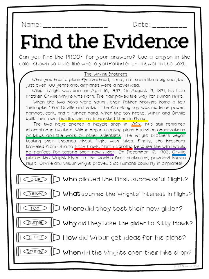 32 Citing Textual Evidence Worksheet High School   Free ...