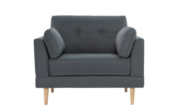 Enjoyable Ian Mid Century Modern Tufted Club Armchair With 2 Accent Spiritservingveterans Wood Chair Design Ideas Spiritservingveteransorg