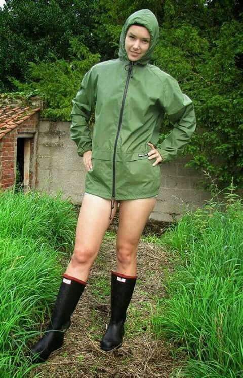 Girls nylon fetish rainwear movies