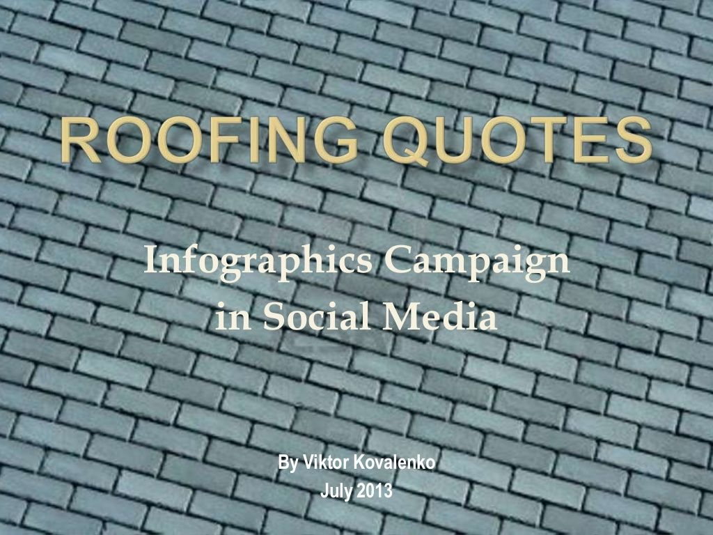Roofing Quotes Infographics Roofing Quotesviktor Mkovalenko On