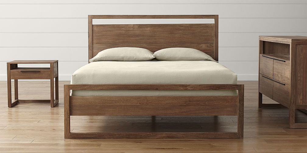 Bedroom Sets Crate And Barrel With Images Wood Bed Design