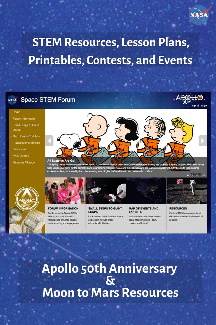 Download free STEM resources to celebrate the Apollo 11 Moon