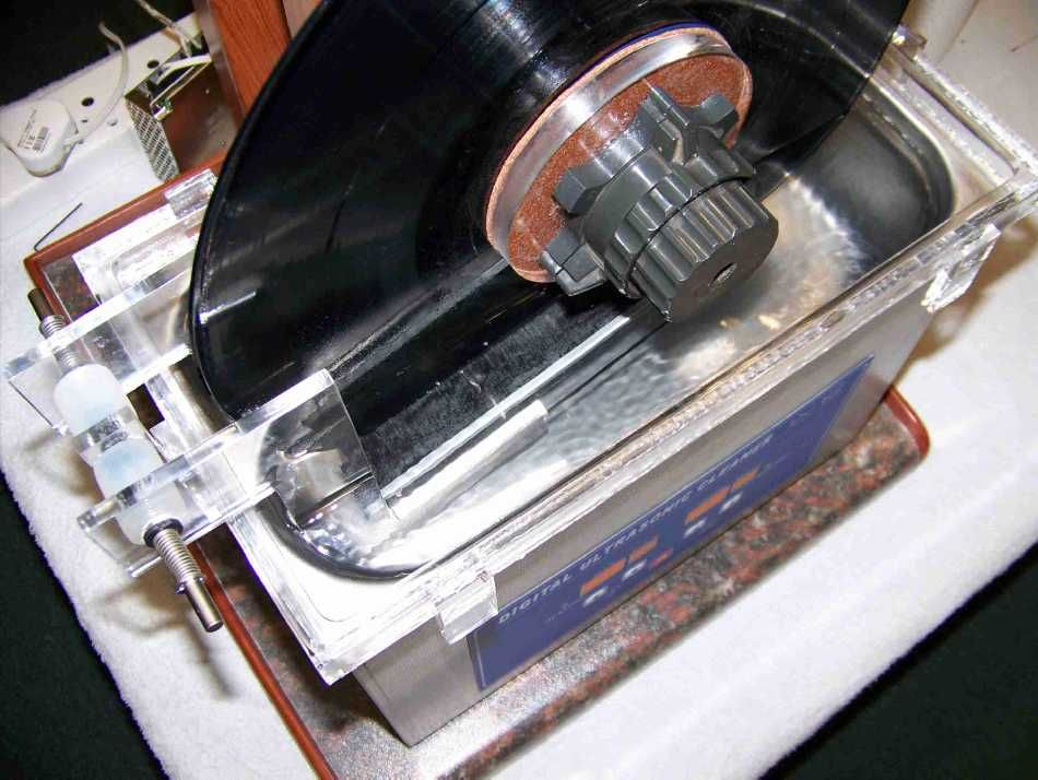 Diy ultrasonic vinyl record cleaning record cleaner