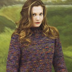 Photo of A simple tweed pullover to knit | Canadian Living  This beautiful wool sweater, …