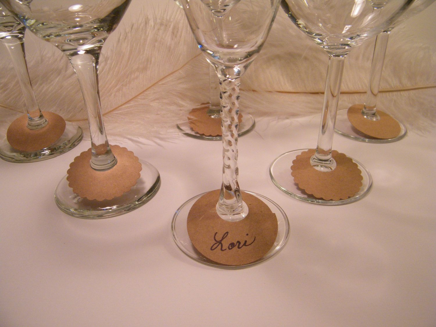 Wine Glass Charms 30 Diy Wine Glass Labels Eco By Morrelldecor