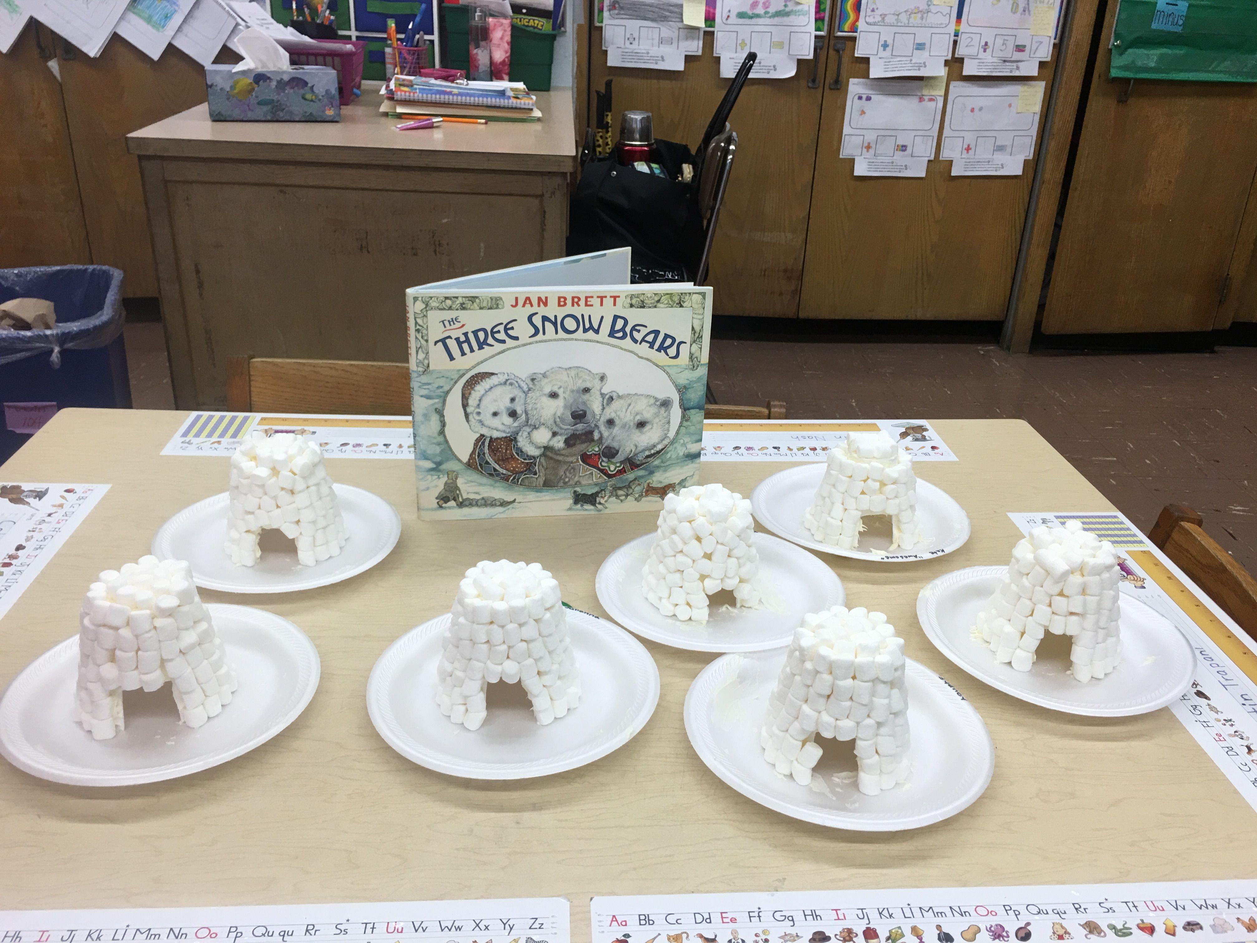 We Read The Three Snow Bears By Jan Brett And Created