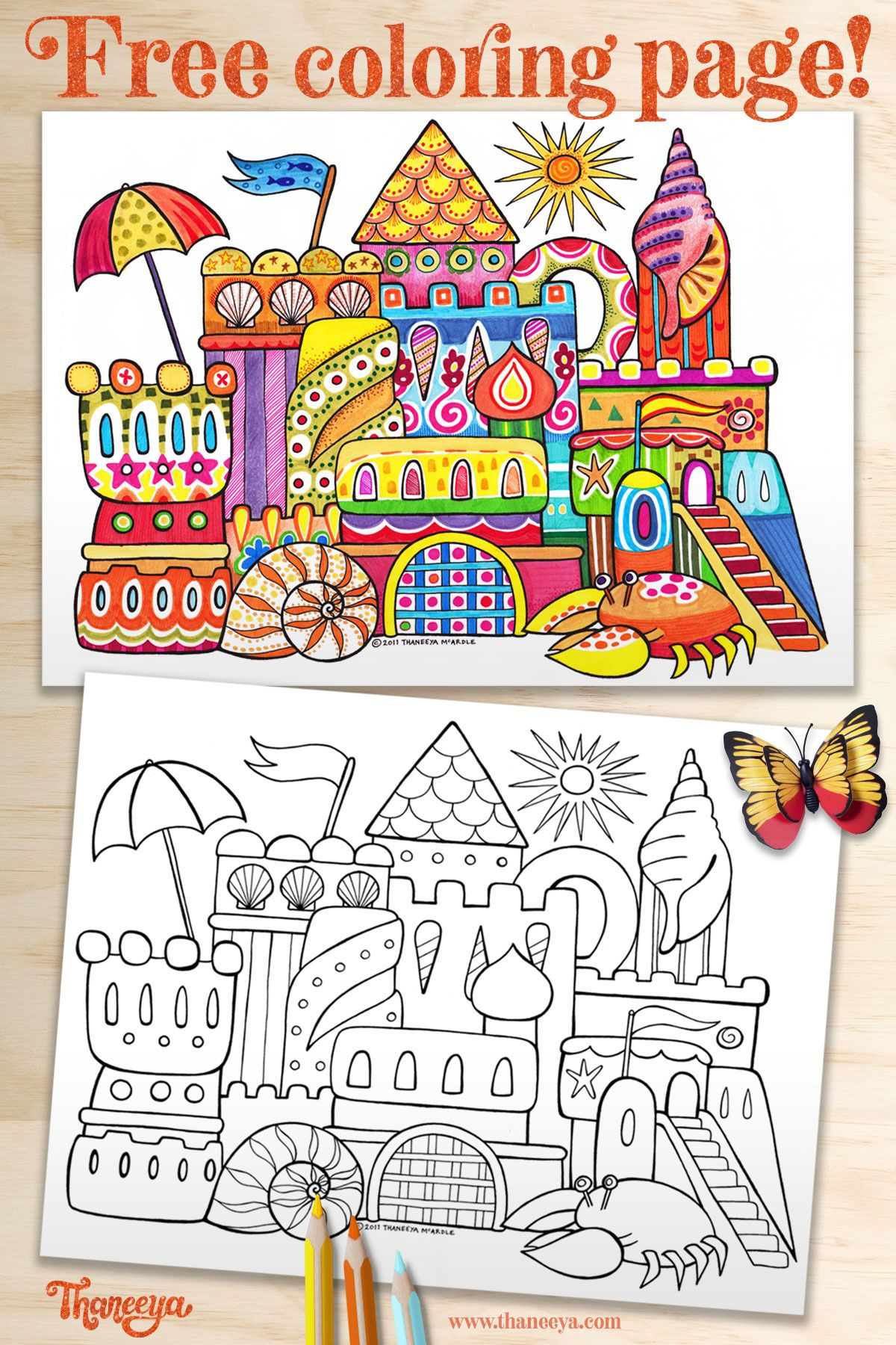 Pin On Coloring Pages By Thaneeya Printable Pdfs