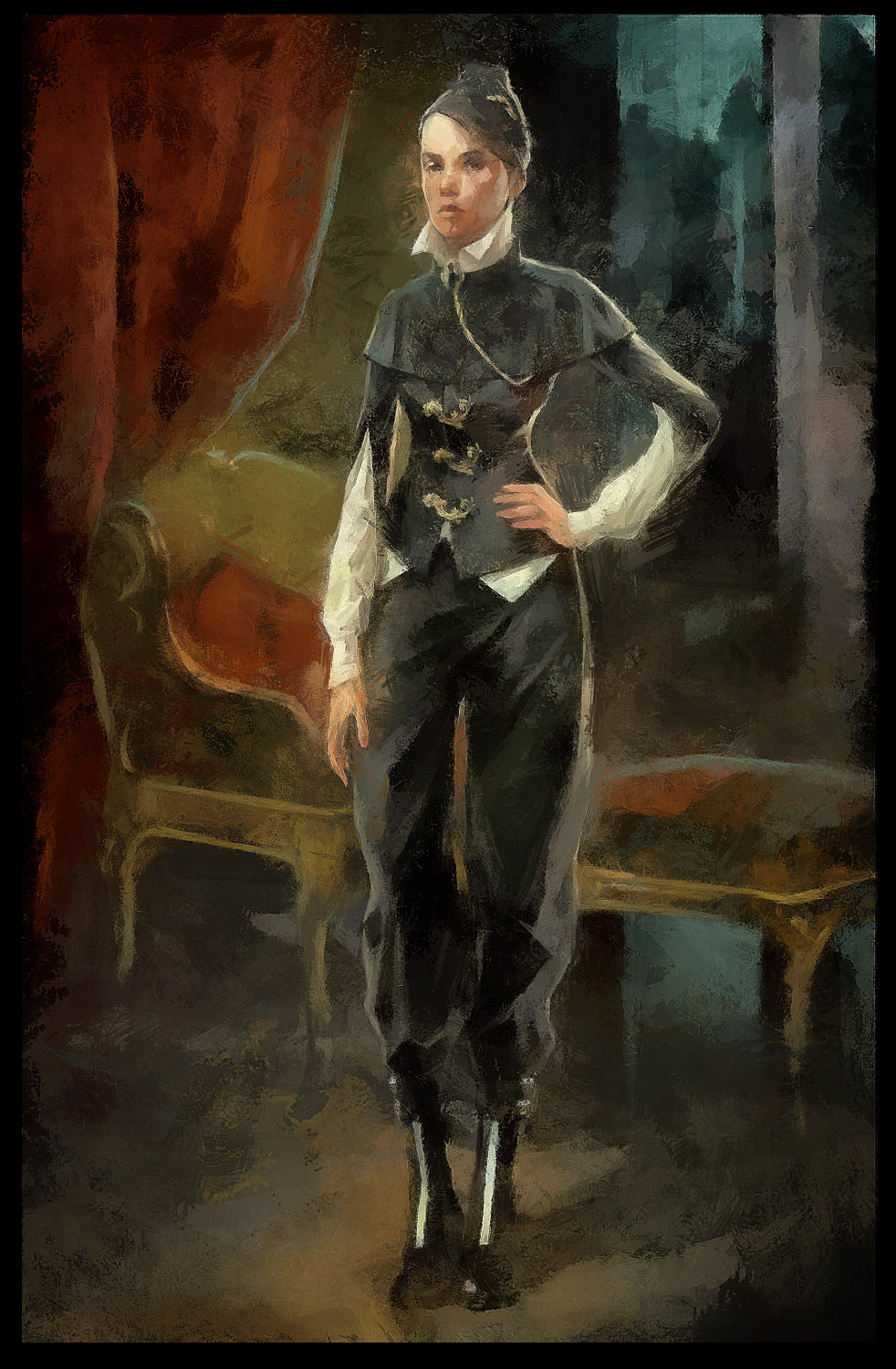 Sokolov Painting The Empress And The Empty Set Character Art