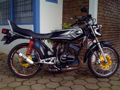 Foto Gambar Modifikasi Motor Rx King Warna Hitam Hitam Motor Warna