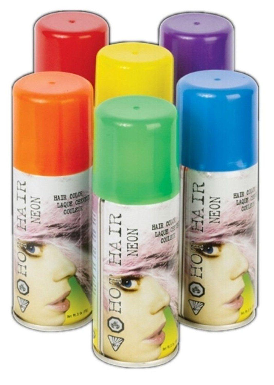 Spray On Temporary Hair Spray 7 Colors Fluorescent Hair
