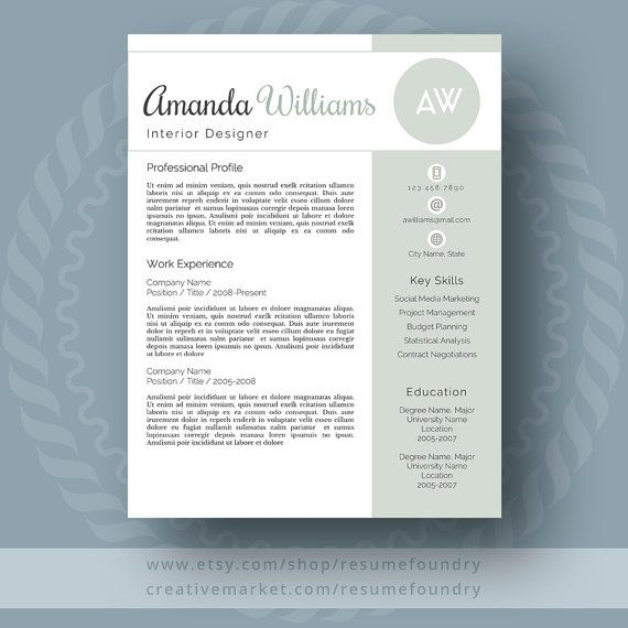 Reference Page Resume Template Best Modern Resume Template For Word 13 Page Resume  Cover Letter  .