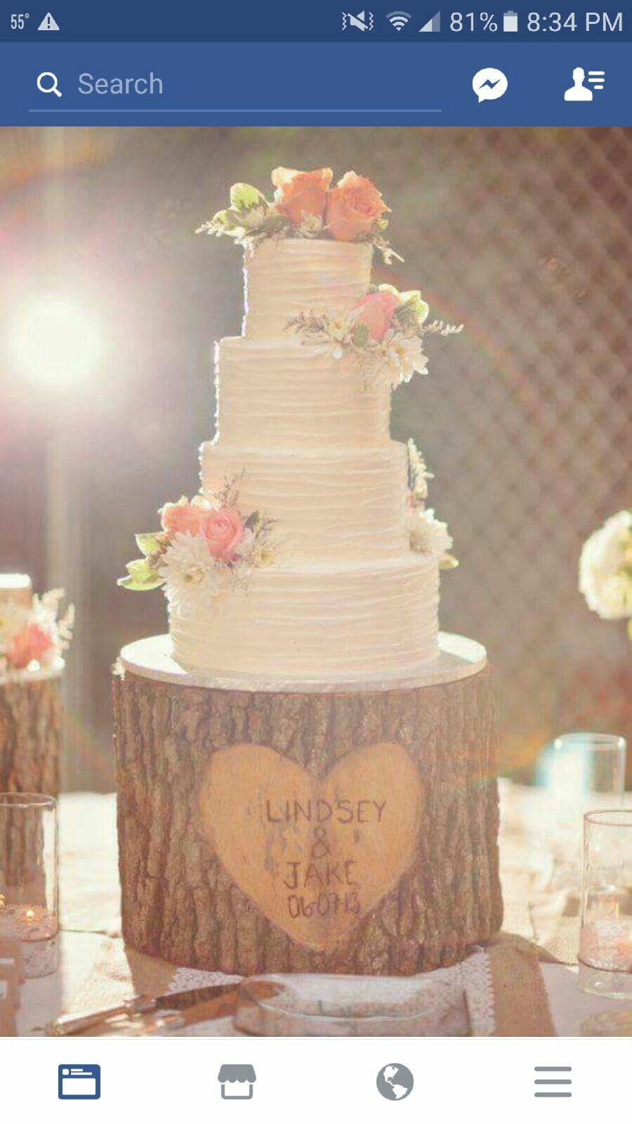 Rustic weddingcakes wedding ideas u stuff pinterest wedding