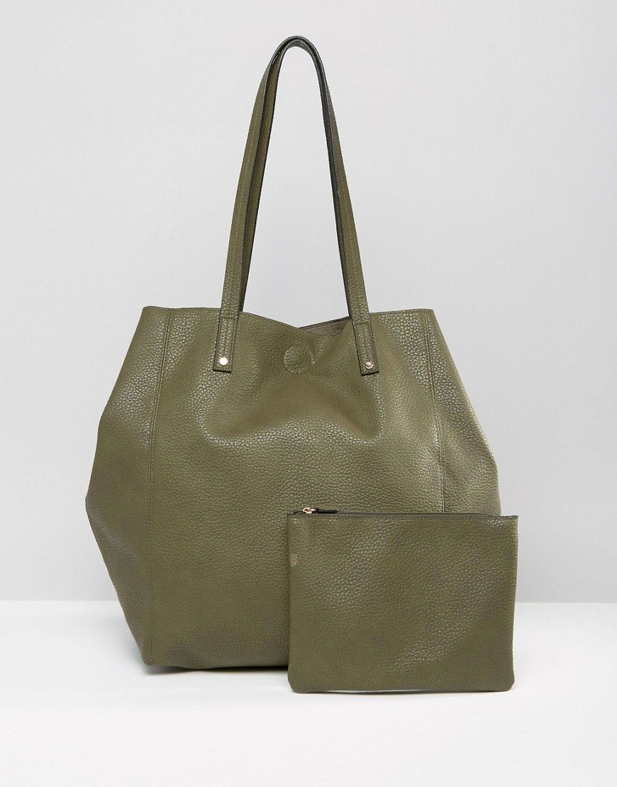 Capsule Winged Tote Bag And Clutch