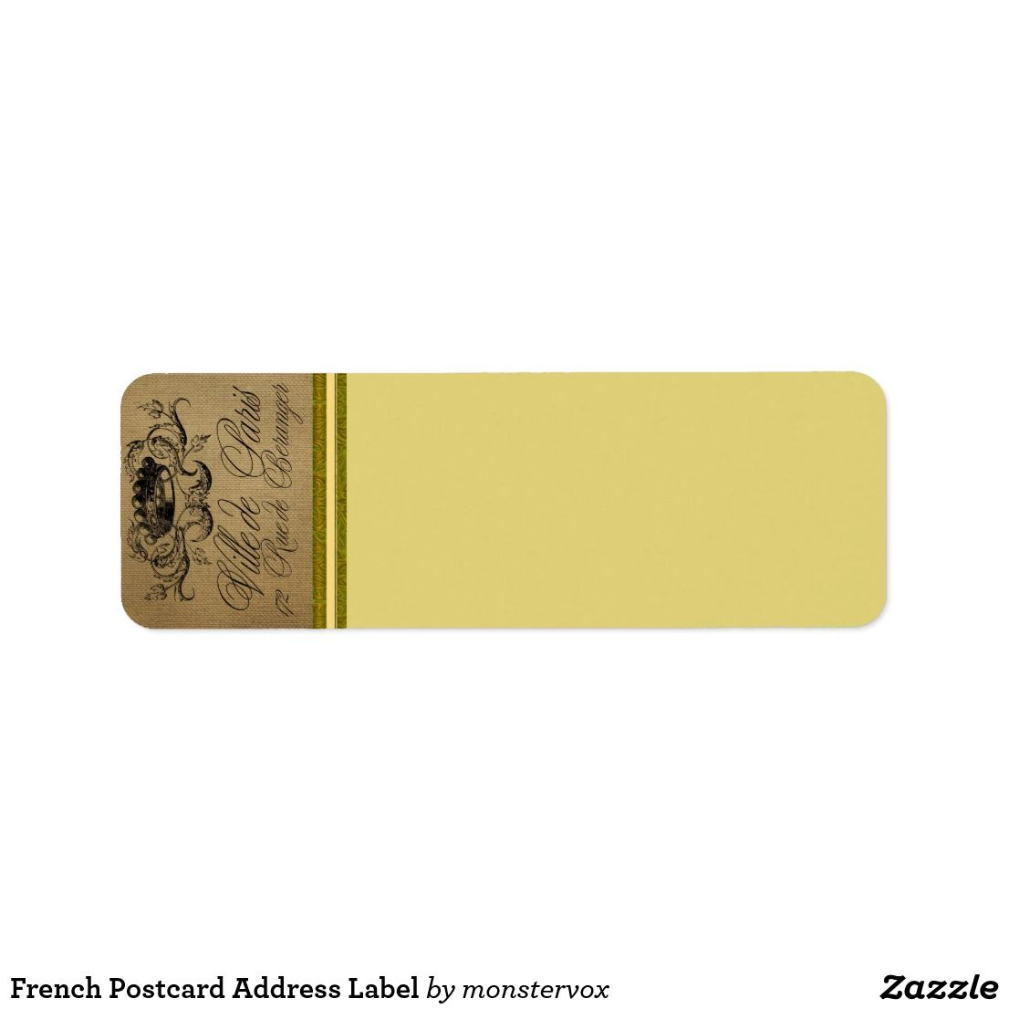 French Postcard Address Label | Zazzle com | My Zazzle