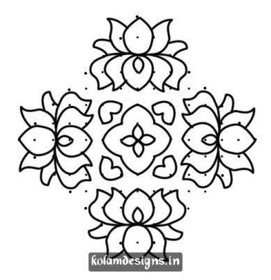Lotus Kolam ❤~ Mandala para Colorear ~❤ | Mandala Mandana Rangoli ...