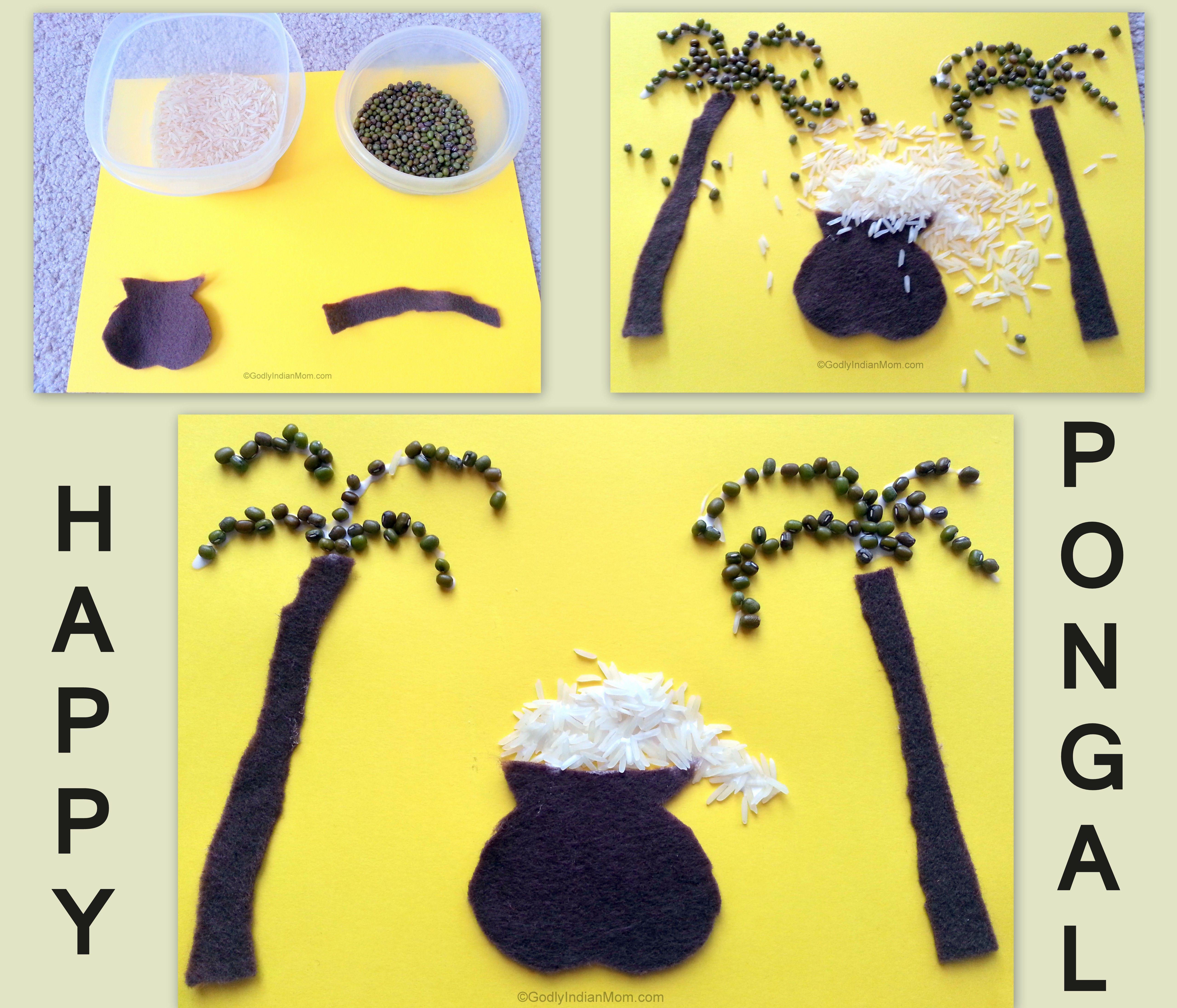 Pongal Craft / Grain Craft | Godly Indian Mom | Crafts ...