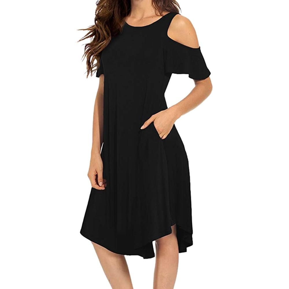 Dresses for Women Print Midi Dress Casual Short Sleeve Loose Cocktail Party Beach Swing Sundress