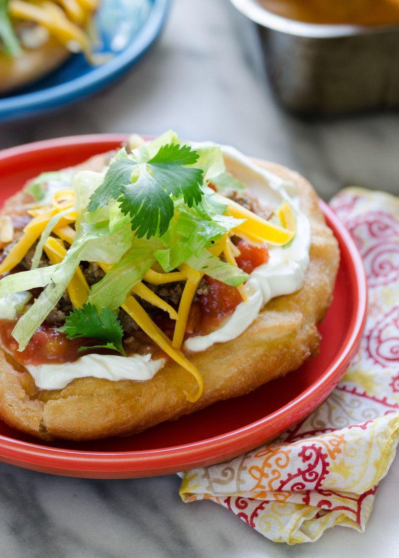 Fry Bread Tacos Recipe Food Fry Bread Tacos Mexican