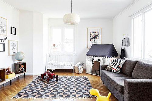 Spielecke im Wohnzimmer Wohnideen einrichten Ideen Wohnzimmer
