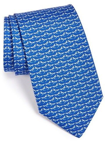 $190, Dragonfly Print Silk Tie by Salvatore Ferragamo. Sold by Nordstrom. Click for more info: http://lookastic.com/men/shop_items/115548/redirect