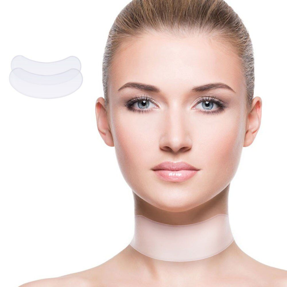 Wiederverwendbare Silikon Neck Pad Neck Band Falten Pads Für Hals Falten Behandlung Präventio Faltenbehandlung Hautpflege Haut