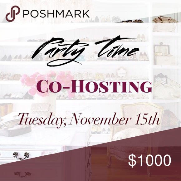 Co-Hosting my 2nd Posh Party on 11/15 I'm so honored to be co-hosting my second Posh Party on November 15th! ❤️ Nominate your favorite closet crushes, yourself and your PFFs! I will be looking to highlight some new poshers along with some well curated closets all of which must follow poshmark rules to be considered for host picks.  Please share this listing and help me spread the word ladies!  Thank you in advance for your support and shares  TIME: TBD  THEME: will be announced once I know…