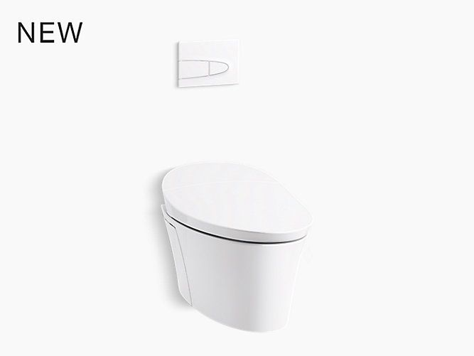 With Water Saving Dual Flush The K 5402 Veil Intelligent Wall Hung Toilet Offers Integrated Person