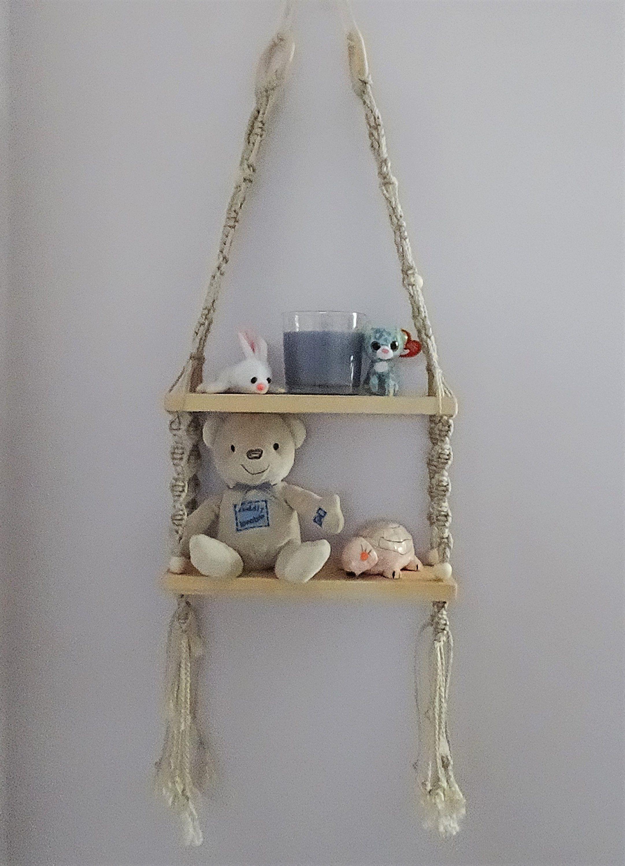 Macrame shelves macrame hanging shelves bohemian style