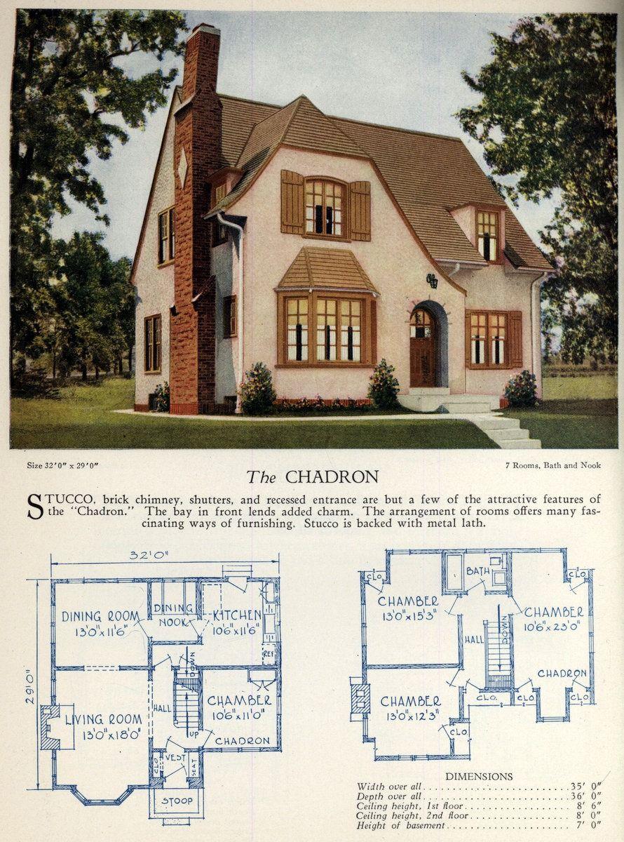 62 Beautiful Vintage Home Designs Floor Plans From The 1920s Home Design Floor Plans House Blueprints Farmhouse Floor Plans