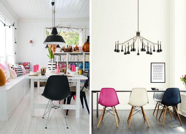 3 chaises de couleur diff rentes - Chaises cuisine couleur ...
