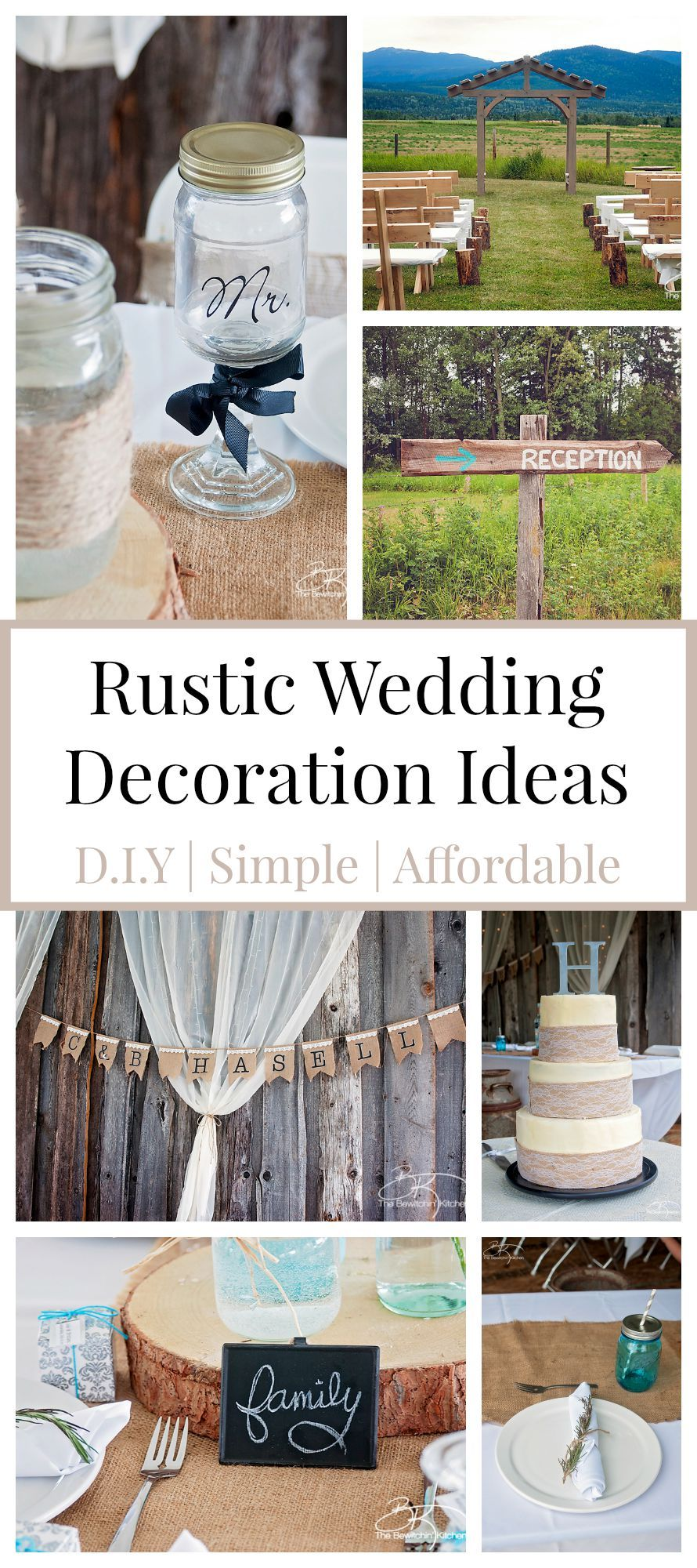 Rustic Wedding Ideas That Are DIY & Affordable Cheap