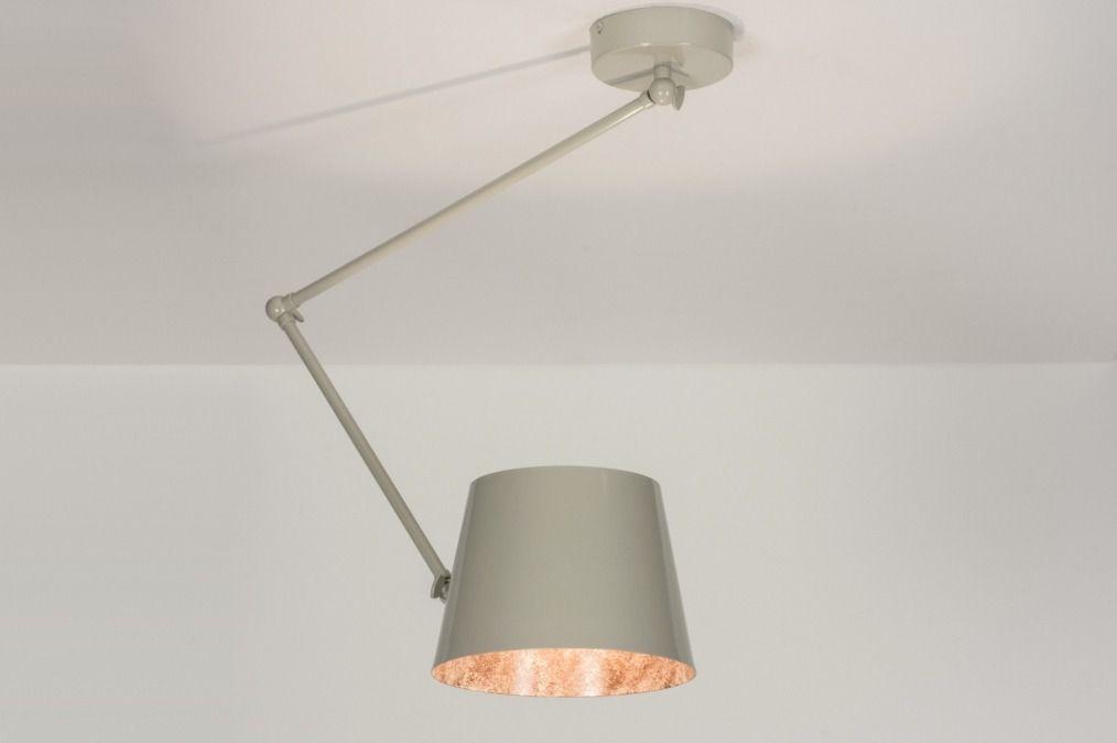 Grijze Slaapkamer Lamp : Hanglamp warm grijs woonkamer verlichting