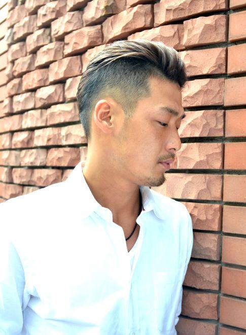 刈り上げスッキリ簡単ショート 髪型メンズ オールバック メンズ