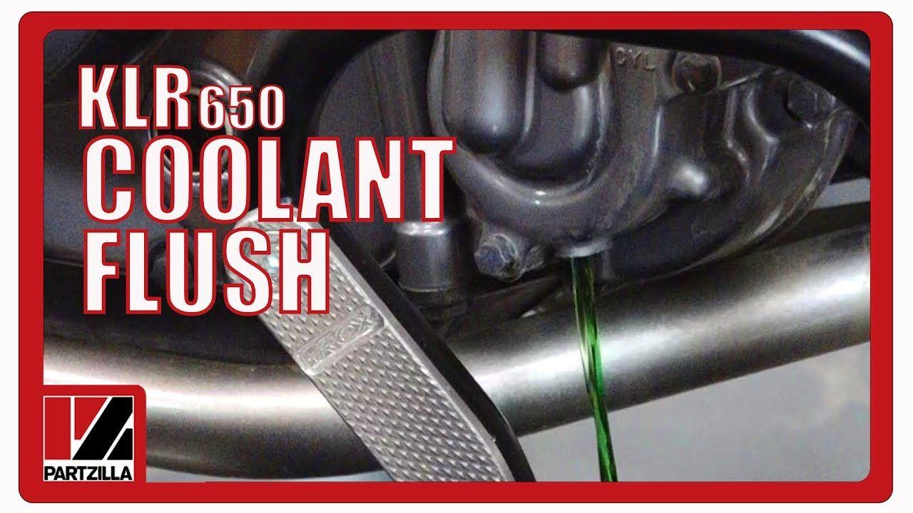 Klr 650 Coolant Flush Partzilla Com Youtube With Images