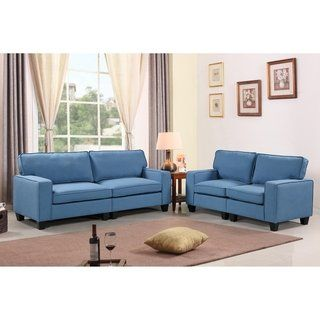 Best Harper Bright Designs 2 Piece Upholstered Sofa And 640 x 480