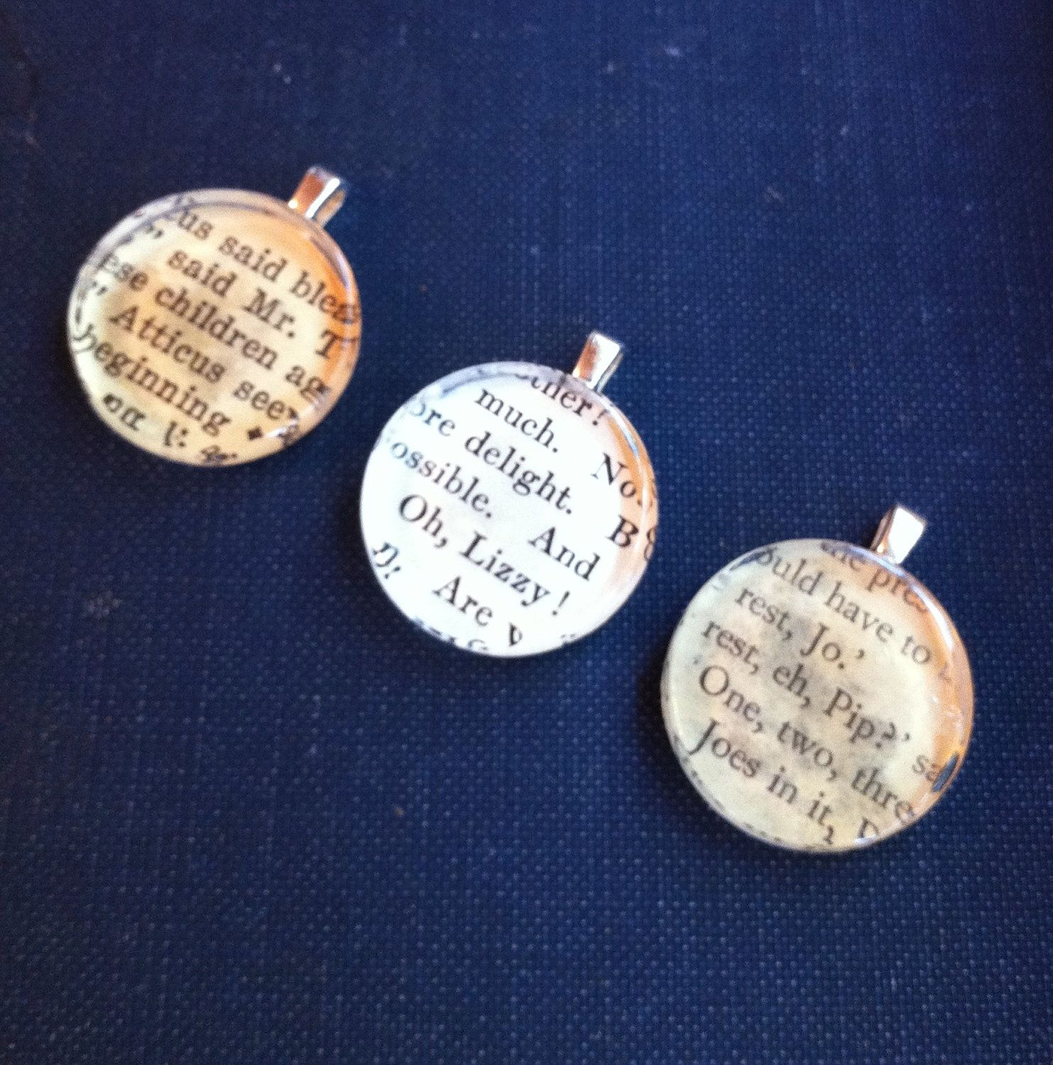 Vintage Book Necklace. $32.00, via Etsy.
