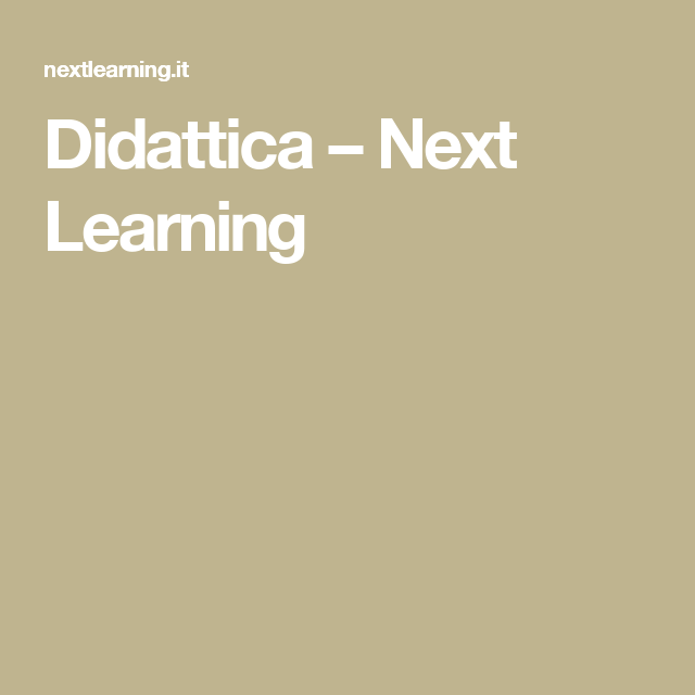 Didattica – Next Learning