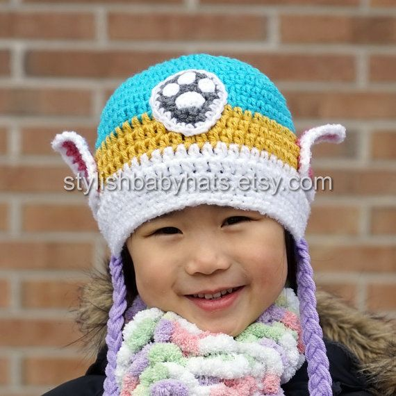 Everest Hat, PAW Patrol Hat, Crochet Baby Hat, Husky Dog Hat, photo ...