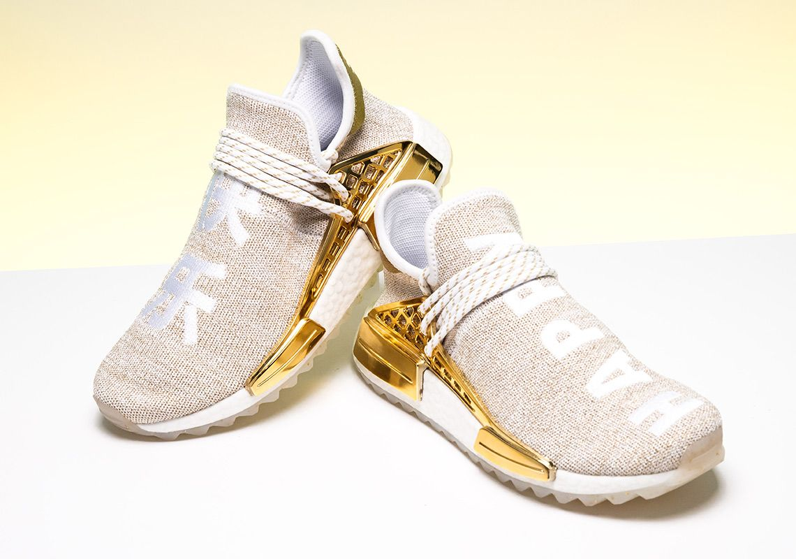 05bbc832d4e20 Pharrell adidas NMD Hu China Gold HAPPY F99762