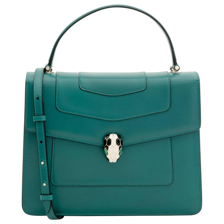 Bulgari Serpenti Forever Flap Bag in Green 1  df2f51148bd8f
