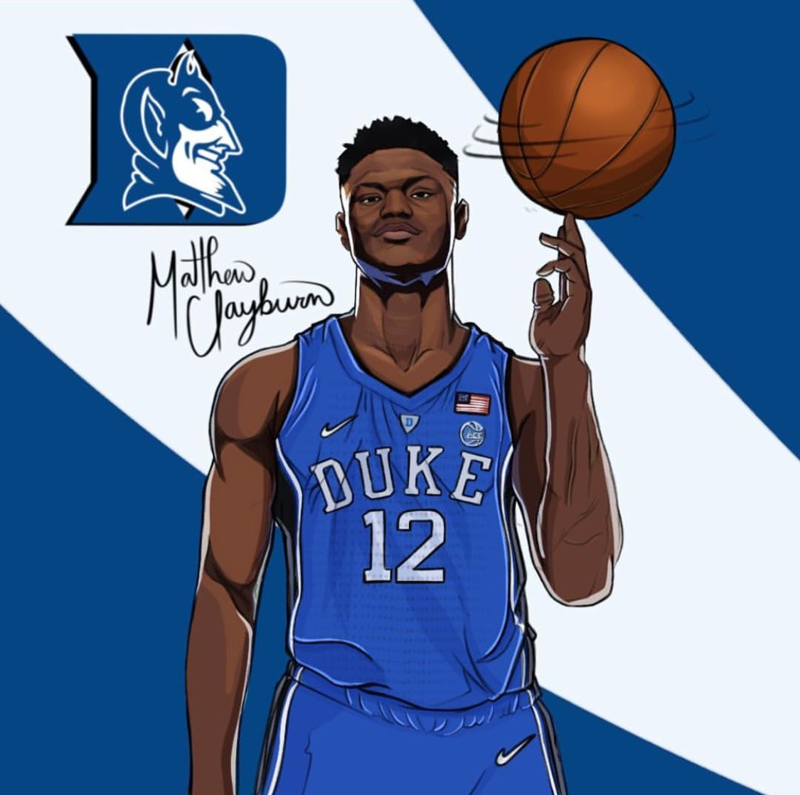 Zion Williamson chose duke. Wow what a shocker Nba art