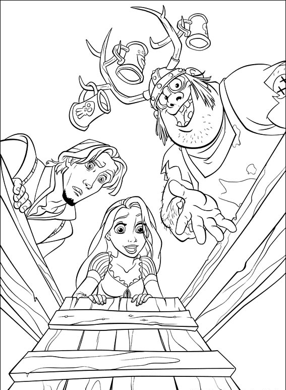Free Walt Disney Tangled Coloring Pages for Kids   Tangled activity ...