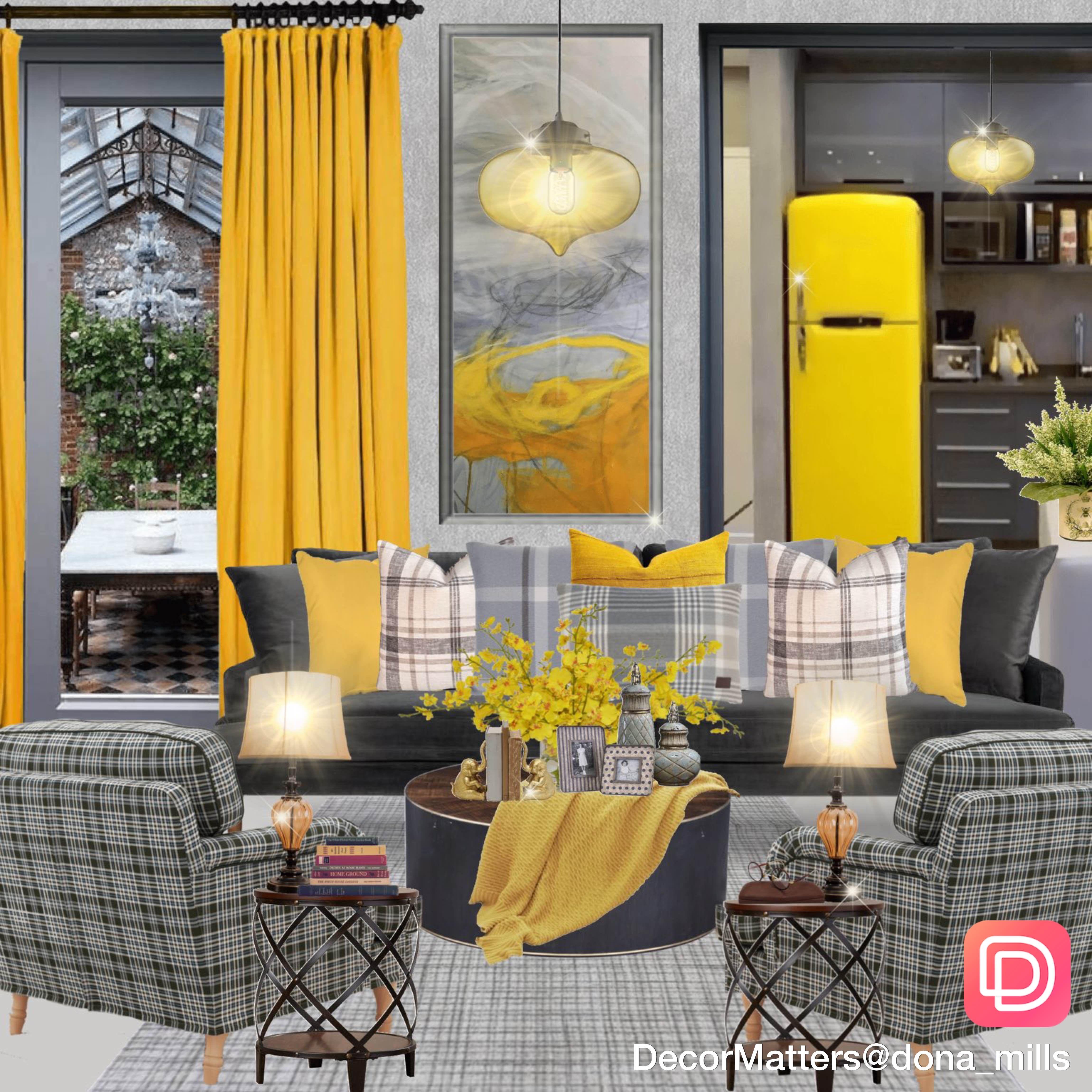 Yellow Interior Design Living Room In App Interior Design Living Room Living Room Designs Living Design Decorate living room app